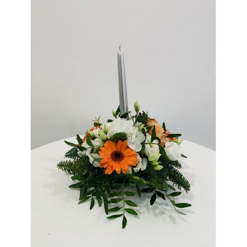 Bouquet Centre de Table Orange