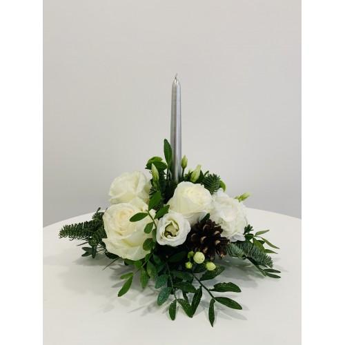 Bouquet Centre de Table Blanc