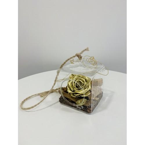 Rose éternelle cube