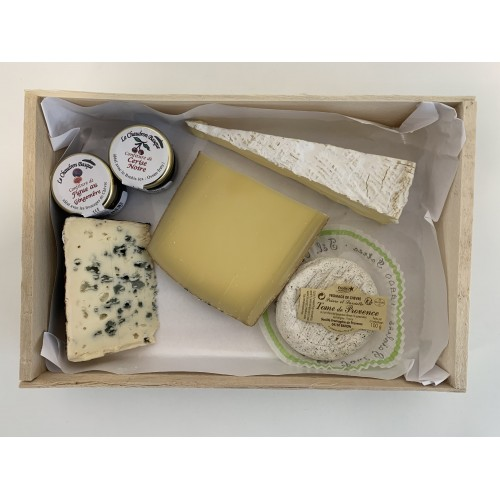 Plateau fin de repas de fromages mixtes